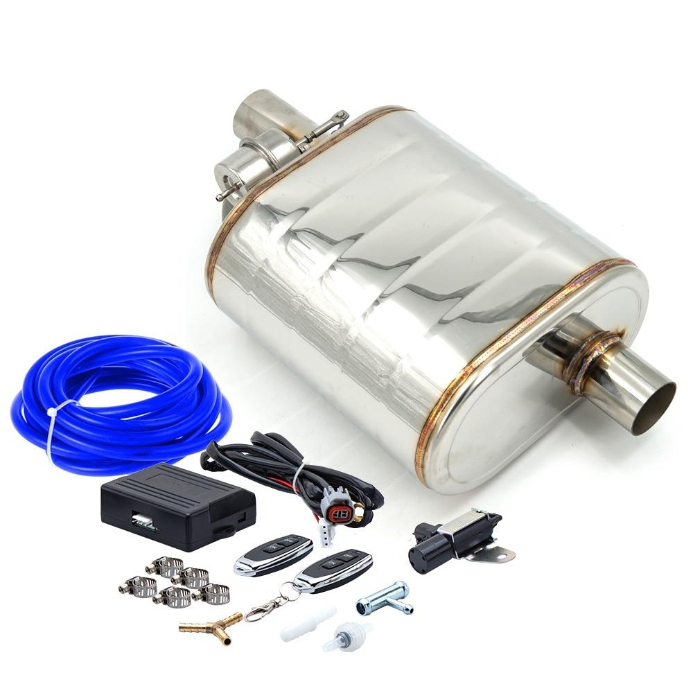 كاتم صوت عادم بزاوية 2.5 بوصة أو 3 بوصة ، مدخل مائل ، مع جهاز تحكم عن بعد لاسلكي ، صمام تفريغ