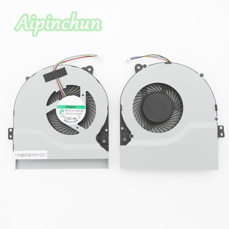 Nuevo Original ordenador portátil de refrigeración de la CPU ventilador para Asus A550 X550 X550V X550C X550VC S56 S550CM X450 X450CA MF75070V1-C090-S9A