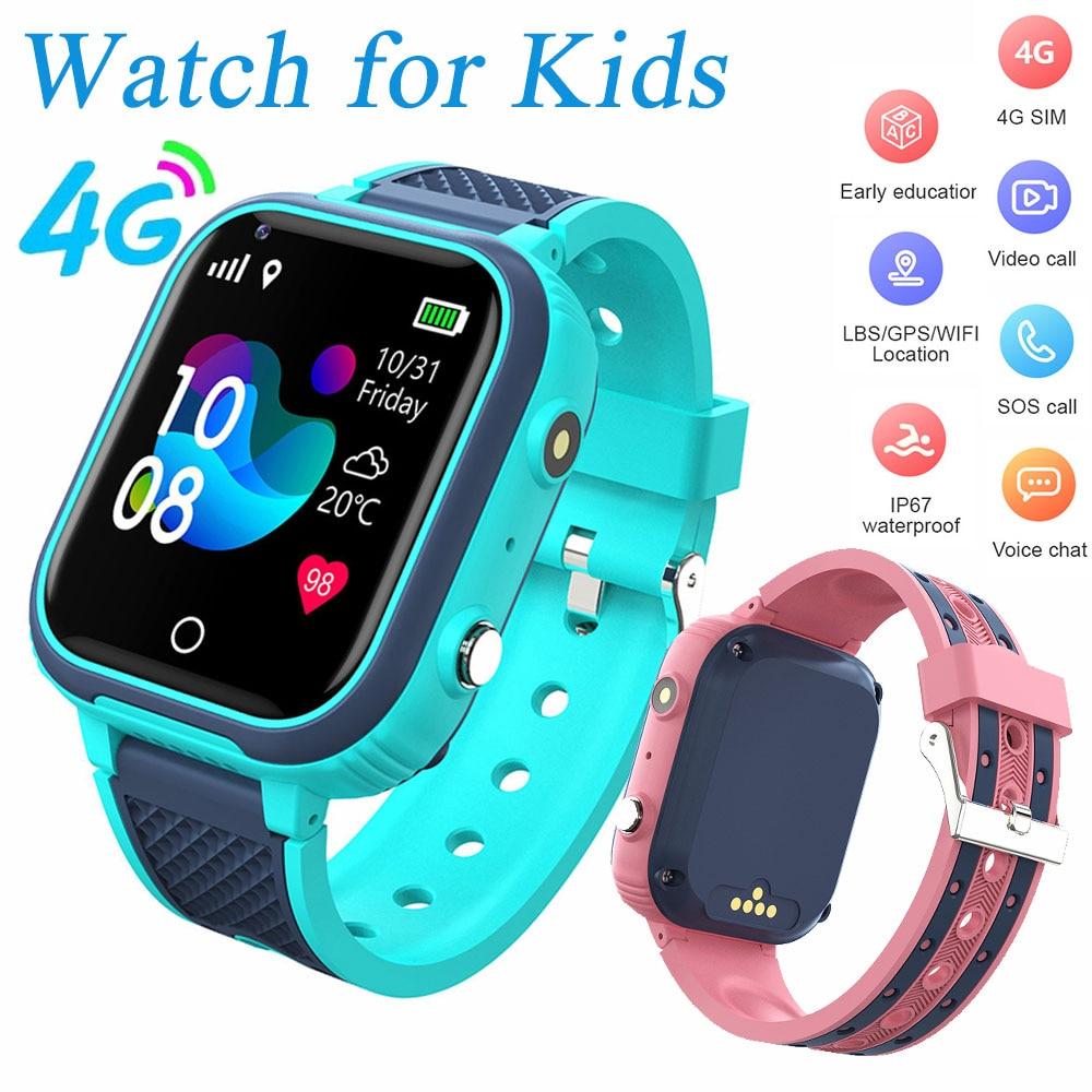 LT21 4G Smart Watch GPS Watch Kids WIFI Video Call IP67 Waterproof Digital Clock SOS Tracker relogio masculino Smartwatch 2021