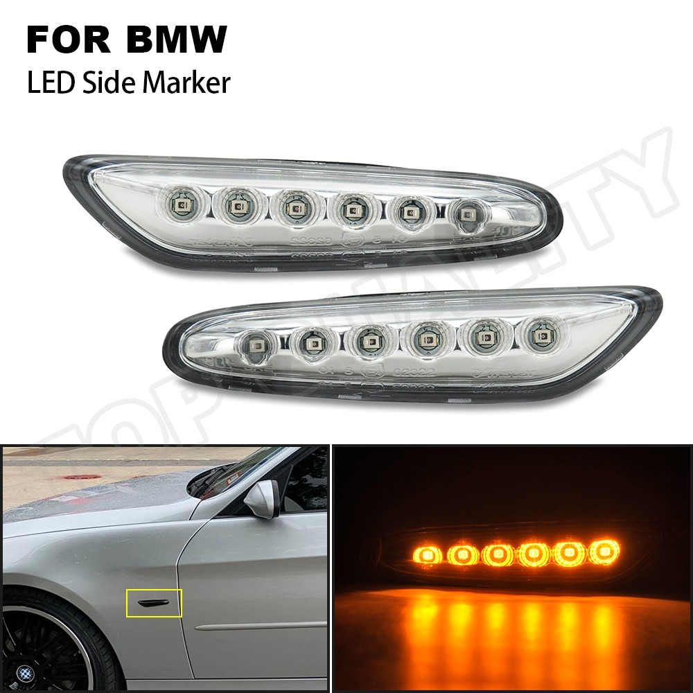 2 шт., Автомобильные Светодиодные поворотники для BMW E46 E60 E61 E81 E87 E82 E88 E84 E90 E91 E92 E93