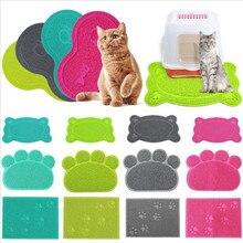 1pcs Pet Dog Puppy Cat Feeding Mat Pad Cute PVC Bed Dish Bowl Food Feed Placement Cat Toilet Mat