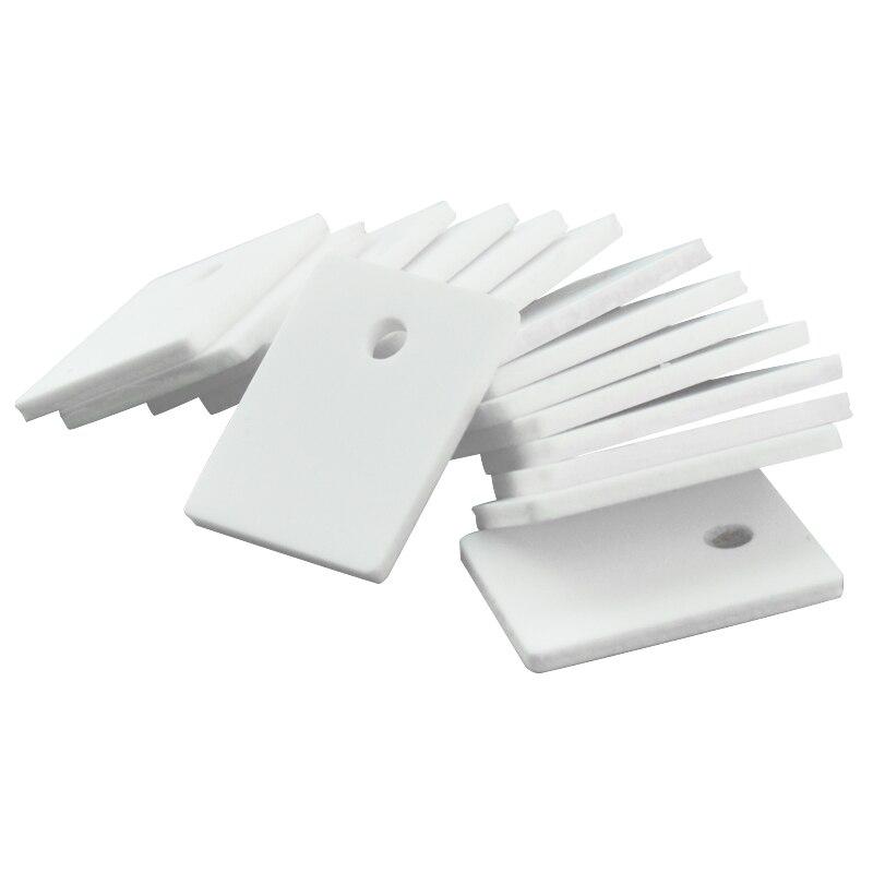 50 шт./лот глинозема керамический лист, высокая теплопроводность изоляционный лист Триод теплоотвод до-220/247/264/3P Бесплатная доставка