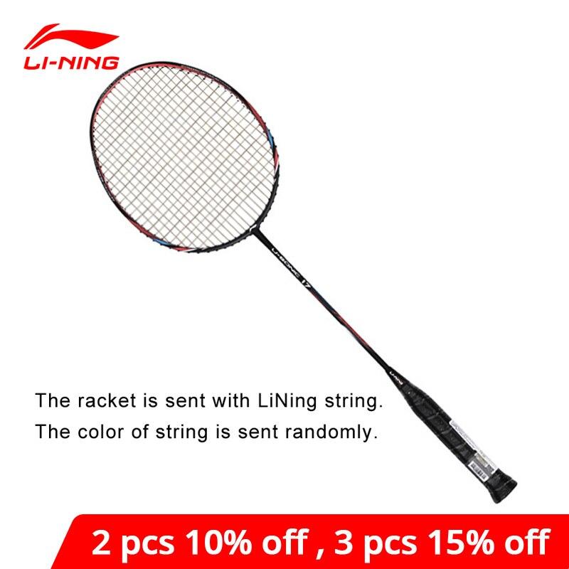 Li-Ning u-sonic 17 ракетки для бадминтона с ниткой из углеродного волокна профессиональная подкладка li ning ракетки AYPM226 ZYF214