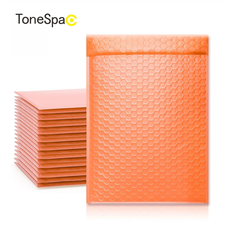 TONESPAC 190*260mm 50 stücke Blase Mailer Versand Gepolsterten Umschlag Selbst Dichtung Wrap Wasserdichte Mailing Verpackung Taschen Orange
