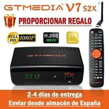 Récepteur Satellite DVB-S2 GTmedia V7 S2X amélioré par le décodeur HD GTmedia V7S 1080P avec USB WIFI gratuit H.265 DVB-S2