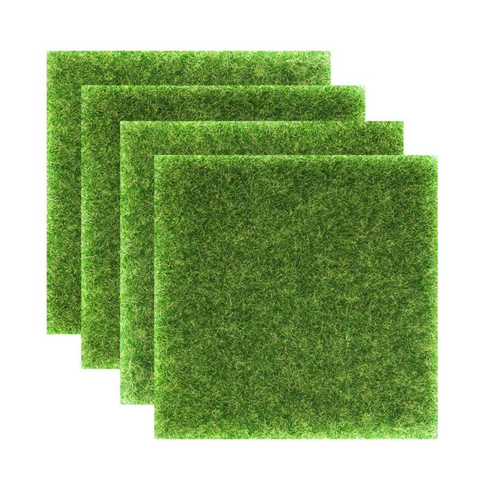 Césped Artificial DIY pared con planta verde simulación musgo hierba alfombra boda Fondo tablero jardín paisaje habitación Decoración