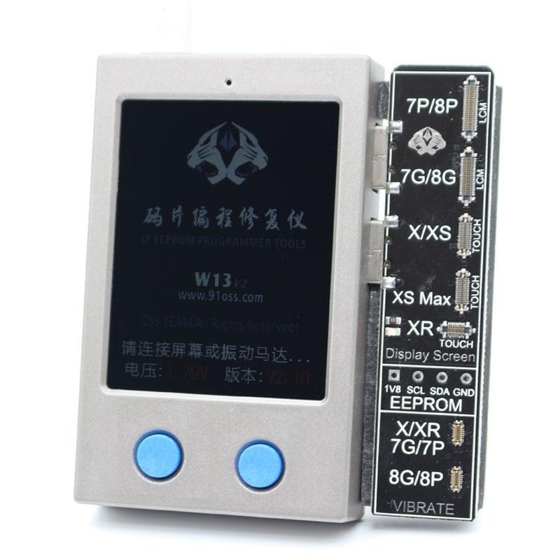 W13 LCD capteur de lumière ambiante vibrateur réparation IP affichage EEPROM programmeur pour iPhone 7-XS/XSM XR 11 pro max