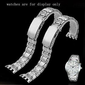 Fine Steel Watchband Silver Special Interface Bracelet Replacement Belt For EF-312D-1A/7A EFR-300 Stainless Steel Watch Chain