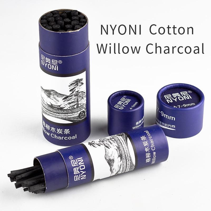 4-5mm carbón de Sauce de algodón 7-9mm lápiz de dibujo para la escuela negro Cayon pintura china madera suministros de Arte de lápiz de dibujo de carbono