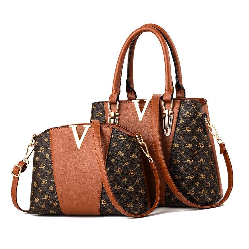 Women Bags Set 2 Pcs Leather Handbag Tote Bag Ladies Shoulder for 2019 Messenger Sac a Main