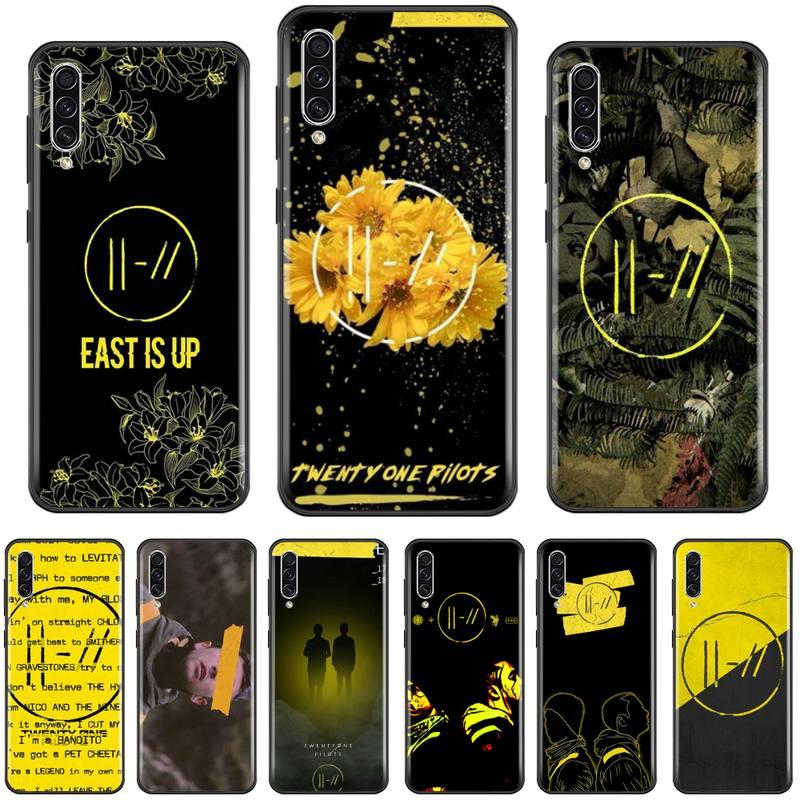 Twenty One Pilots 21 Pilots Flower art Phone Case Capa For Samsung A20 A30 30s A40 A7 2018 J2 J7 prime J4 Plus S5 Note 9 10 Plus