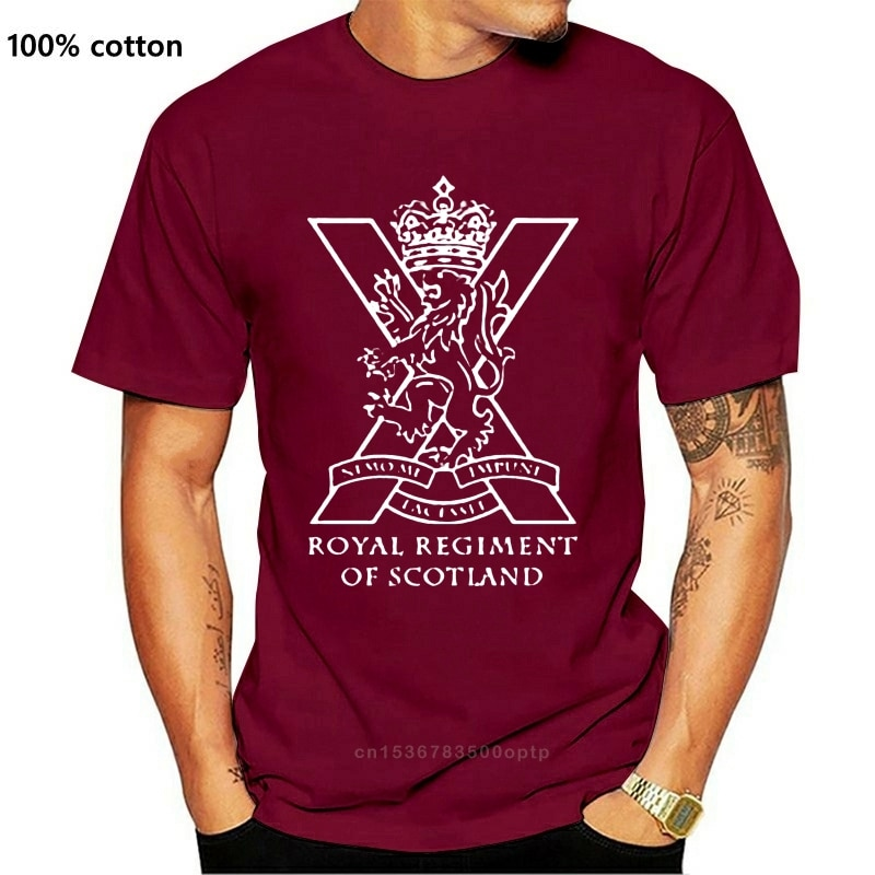 New 2021 The Royal Regiment of Scotland Scotish British Army Special Force 2021 Mens T-Shirt Summer Casual Design T Shirt
