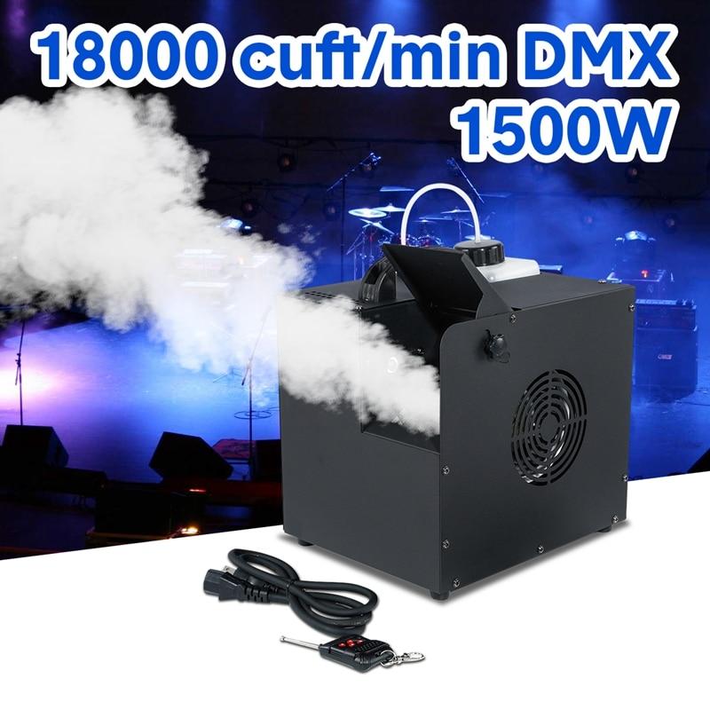 آلة رش الدخان عالية الطاقة DMX ، 1500 واط ، تأثير ضوء المسرح ، DJ