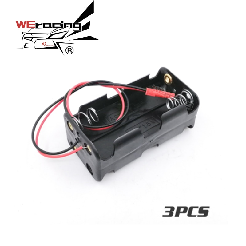 3 piezas receptor caja de la batería 4 x AA batería insertar compartimento para 1/8, 1/10 RC modelo HSP S213