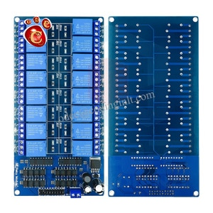 16 relay module 5V 12V control panel with optocoupler protection belt LM2596 power relay