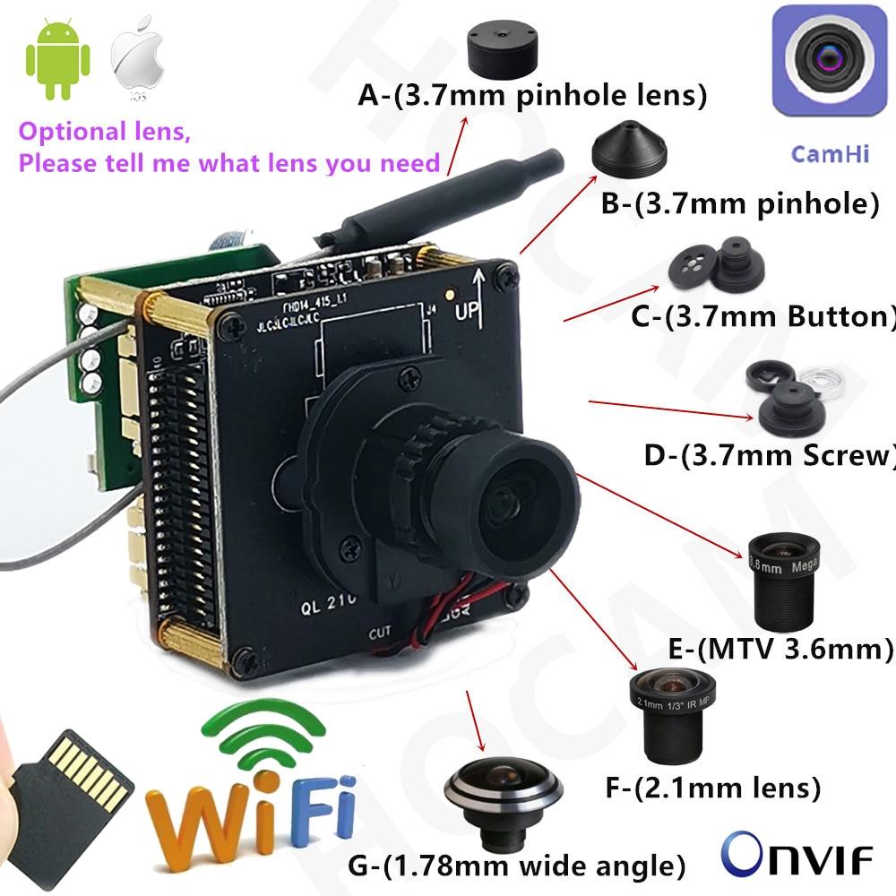 IMX415 4K WIFI IP-камера 8 МП Starlight модуль IP-камеры Mini Way Audio H.265 IR-Cut 4 мм 6K объектив CCTV видеонаблюдение Pin отверстие