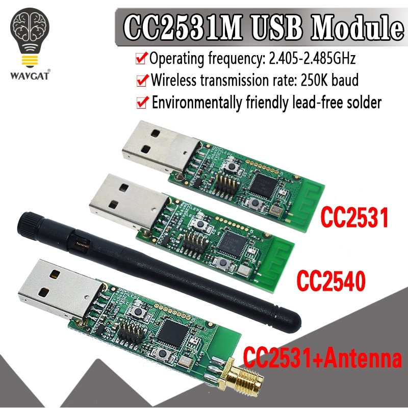 Беспроводной Zigbee CC2531 CC2540 Sniffer голая плата протокол пакета анализатор модуль USB интерфейс ключ захвата Пакет модуль