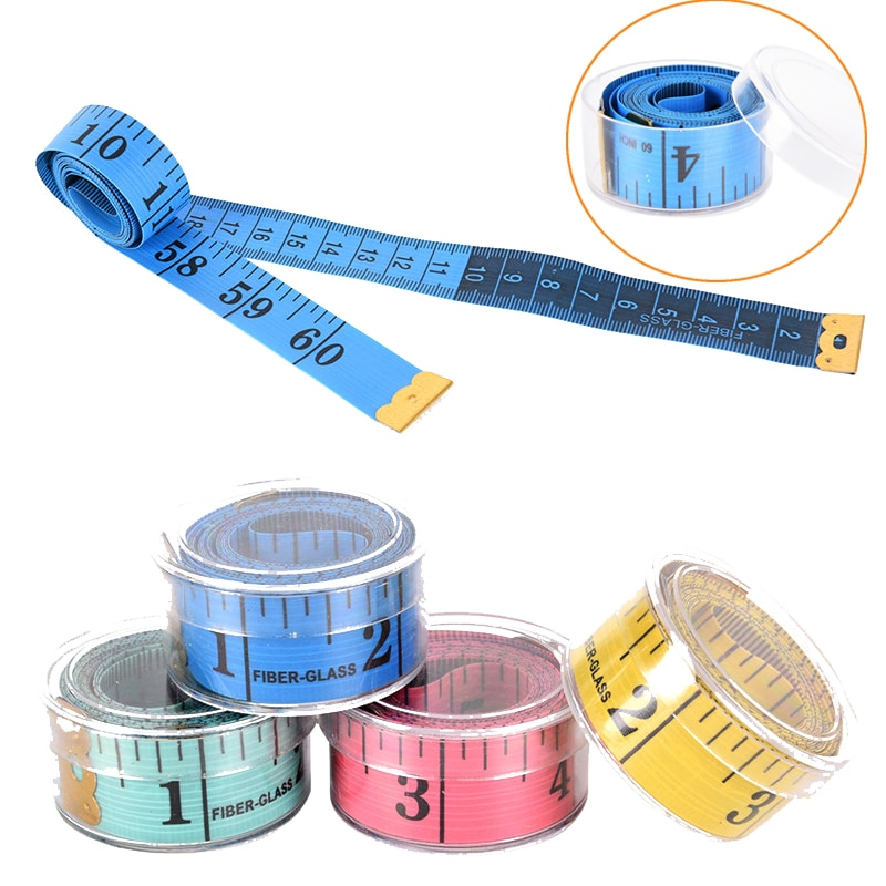 """1/2 pces liso 150cm/60 """"régua de medição do corpo costura costura fita de medição aleatória medida de fita de costura plana macia régua medidor"""