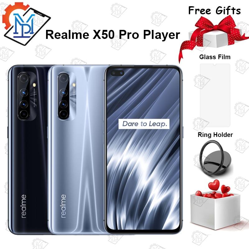 Перейти на Алиэкспресс и купить Новинка, оригинальный смартфон Realme X50 Pro, телефон с экраном 6,44 дюйма, 6 ГБ + 128 Гб, Snapdragon 865, Android 10, SuperDart, флэш-зарядка