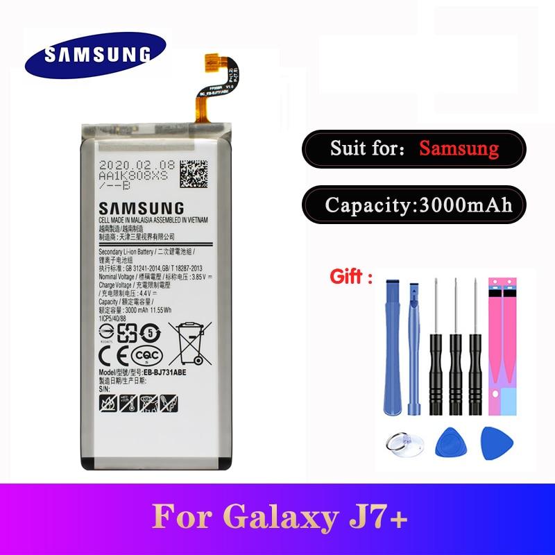 20pcs/lot High Quality Battery EB-BJ731ABE For Sausung Galaxy J7+ SM-J7310 C8 Phone Replacement Bateria 3000mAh