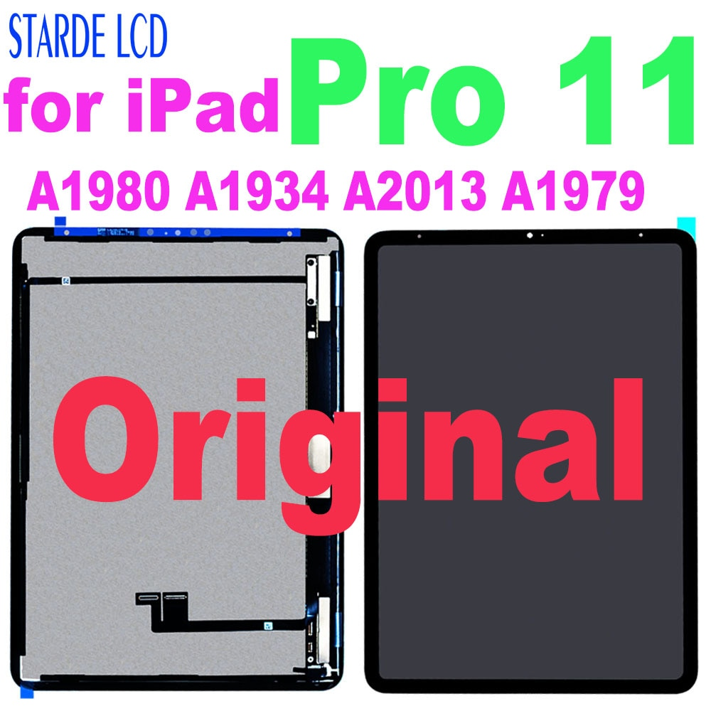 """Get Original for iPad Pro 11 A1980 A1934 A2013 A1979 LCD Display Touch Screen Digitizer Assembly for iPad Pro 11"""" A2068 A2230 A2228"""