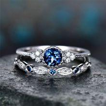 YD&YDBZ Turkey Style Design Handmade 2 Pc/Set Wedding Rings Bohemian Women Finger Jewelry Silver Colour Ring Punk Girls Anéis