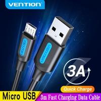 Vention Micro USB кабель 3A нейлоновое быстрое зарядное устройство USB Type C кабель для передачи данных для Samsung Xiaomi LG Android Micro USB Мобильный телефон кабел...