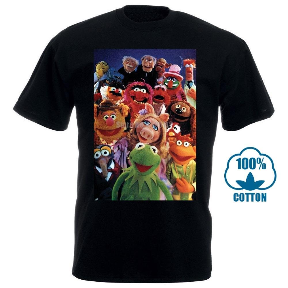 Camiseta Homme The Muppet Show Gustavo Piggy Gonzo serie de TV Vintage Casual de talla grande camisetas estilo Hip Hop camisetas S 2Xl 031215