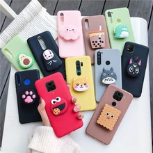 3D cartoon phone holder case for xiaomi redmi note 8 note8 pro 8t note 9 pro 5g 9s redmi 9C 9A 8 8a 7a 9  silicone stand cover