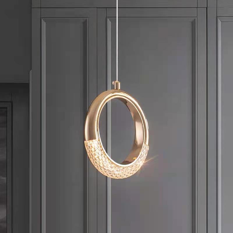 Современная подвесная Светодиодная лампа в скандинавском стиле, комнатное украшение для кухни, ресторана, бара, гостиной, спальни, прикрова...