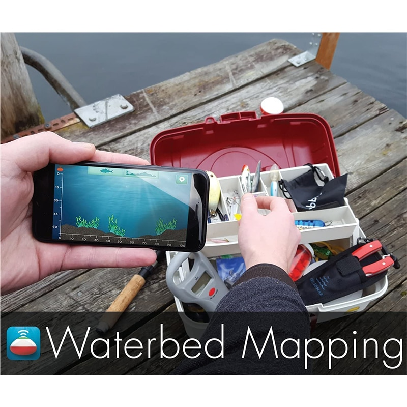 iBobber Pulse with Fish Attractor Wireless Bluetooth Smart Fish Finder for iOS and Android Devices enlarge