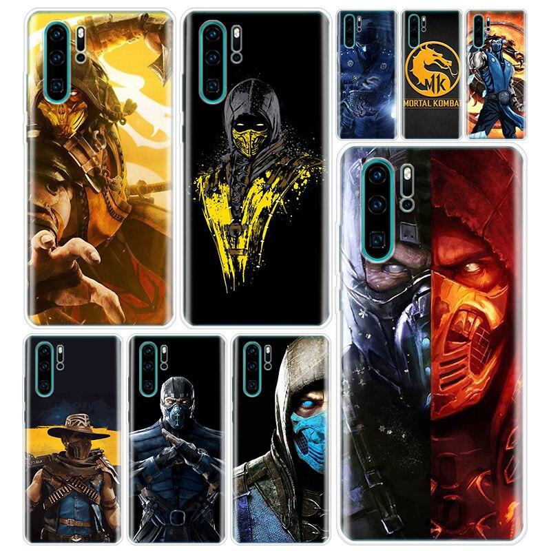 Funda de teléfono Mortal Kombat para Huawei Y5 Y6 Y7 Y9 2019 Honor 10 9 20 Lite 8S 8A 8X 9X 7A 7X 20i V30 V20 Pro, funda