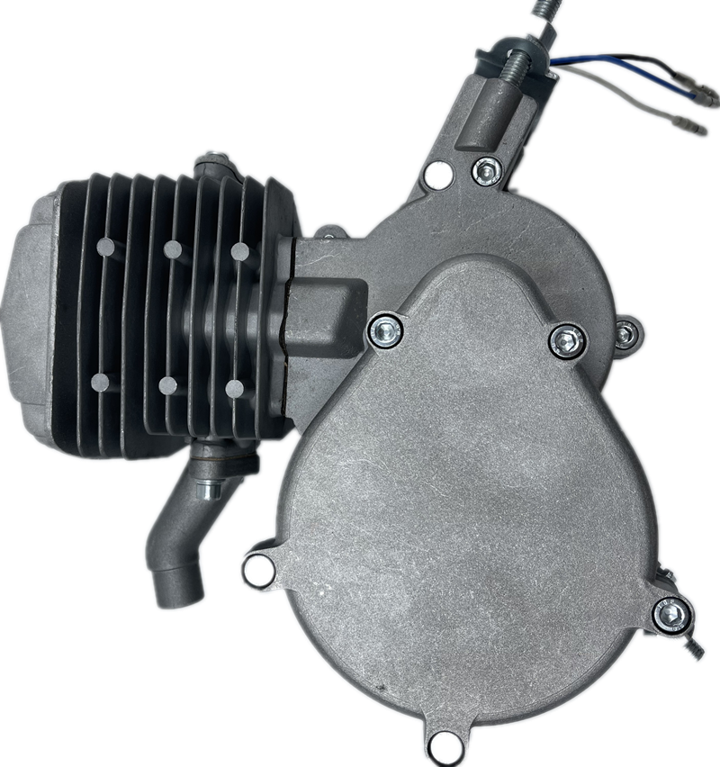 80CC engine two stroke motor set bicycle gasoline engine Black Silver enlarge