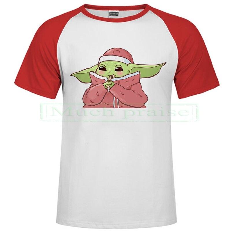 Camiseta películas este bebé la impresión Digital Wars equipo UE T cuello adoptar tamaño divertido nueva camisa suave estrella Yoda Jedi Mandalorian Tops