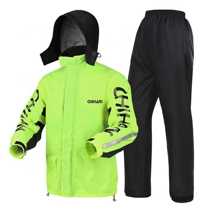 Waterproof Men Motorcycle Raincoat Suit for Adults Outdoor Hooded Windproof Super Light Breathable Jacket Pants Biker Rainwear 6 enlarge