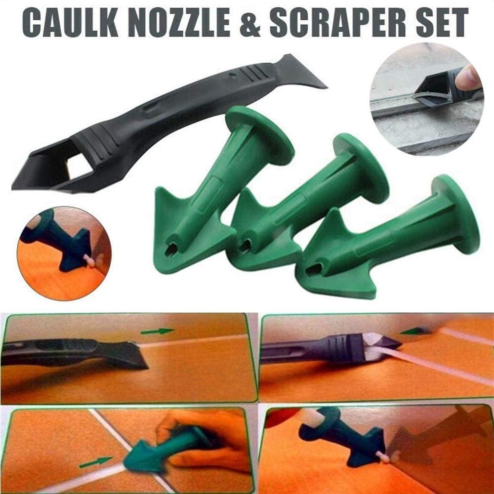 Sada škrabek trysek Caulk pro opakovaně použitelné tmelové úhlové škrabky silikonové spárovací nástroje