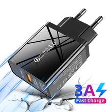Carga rápida 3,0 QC 3,0 4,0 cargador rápido USB cargador de teléfono móvil para iPhone 11 7 8 Plus X XR XS Max Samsung adaptador USB
