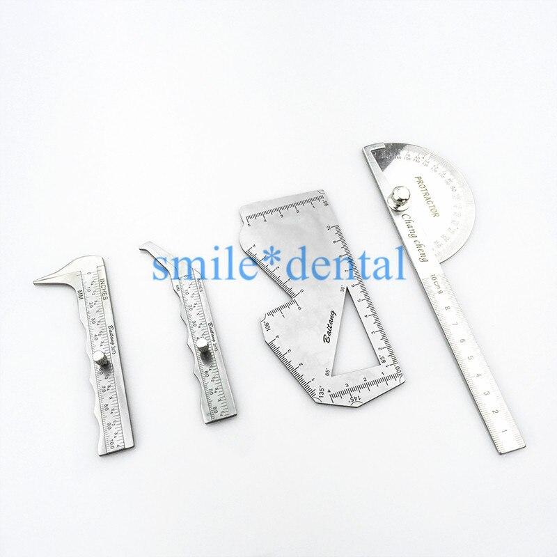 Pinza Nasal escala de medición Nasal Acero inoxidable placa tallada asal instrumentos de cirugía plástica