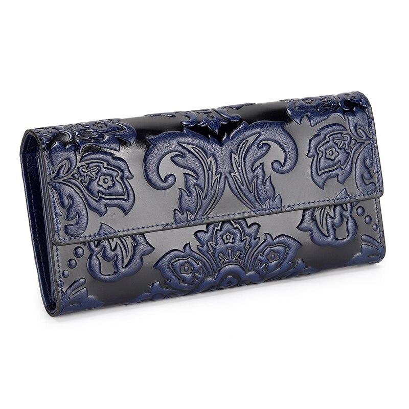 Bolsas de Couro Luxo em Relevo Bolsa do Vintage Titular do Cartão Genuíno Mulheres Carteiras Designer Bolsas Embreagem Diária Moda Senhora Bolsa