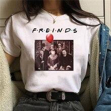 Femmes T-Shirt horreur amis Michael Myers Jason Voorhees Halloween T-Shirt femme Harajuku haut loisirs t-shirts femme
