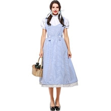 Movie The Wizard of OZ Dorothy Costume for Girl and Women Dorothy Cosplay Fancy Dress Halloween Prin