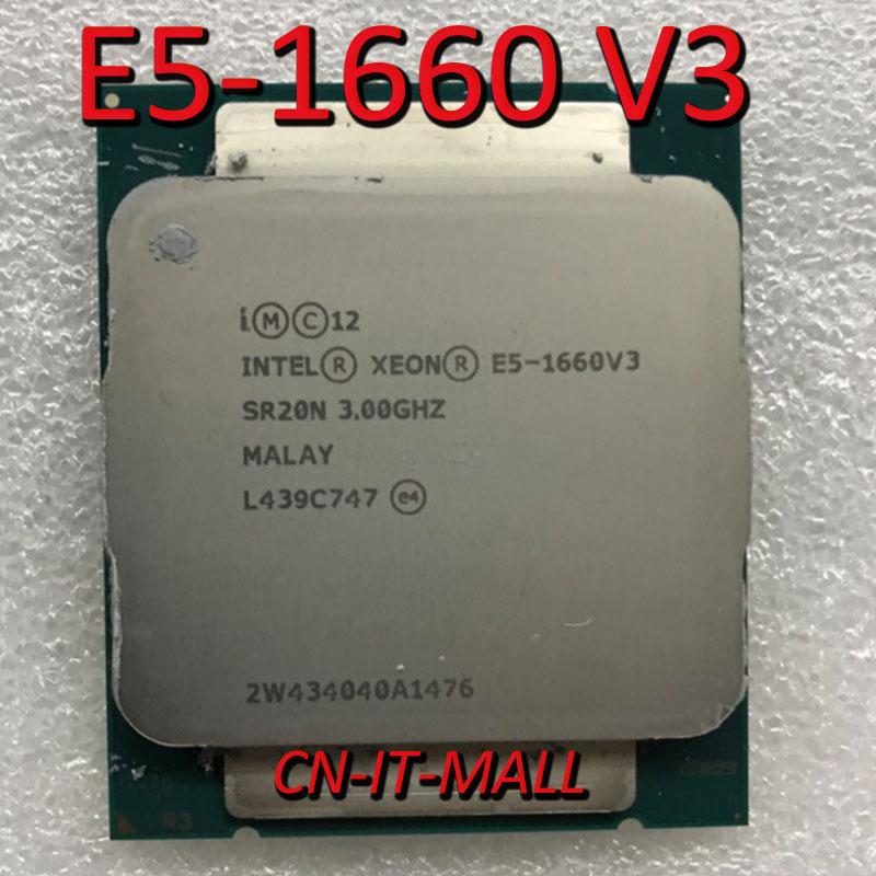 Intel Xeon E5-1660 V3 E5-1660V3  CPU 3.0GHz 20M 8 Core 16 Threads LGA2011-3 Processor