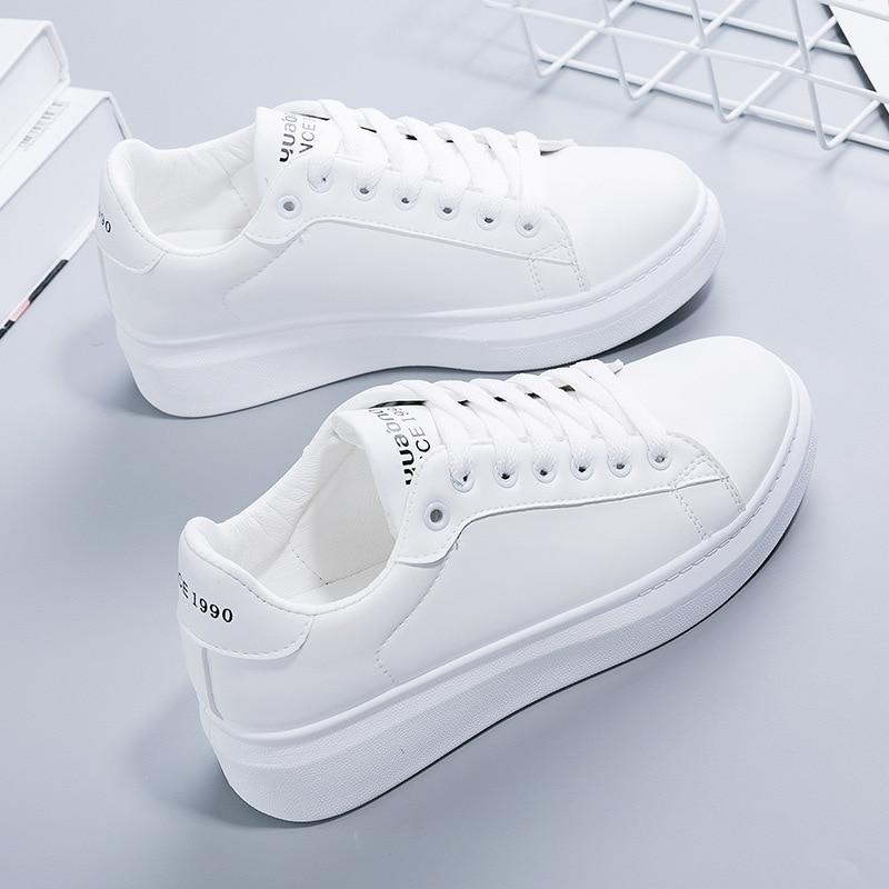 Women's Vulcanize Sneakers Shoes Fashion White Tenis Feminino Platform Flats Sport Casual Shoe For W