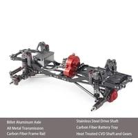 110 rc crawler metal chassis kit 313mm 12 3 wheelbase with metal transmission aluminium axle carbon fiber frame rail