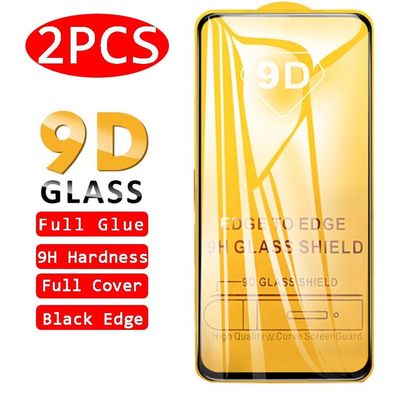 2 piezas de vidrio templado con pegamento completo 9D para Samsung Galaxy A21s A20 A20s A20e Protector de pantalla A Quantum A 21s 20 20s 20e película protectora