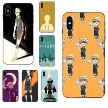 Für Apple iPhone 4 4S 5 5S SE 6 6S 7 8 Plus X XS Max XR TPU Capa Anime Tsukishima Kei Haikyuu