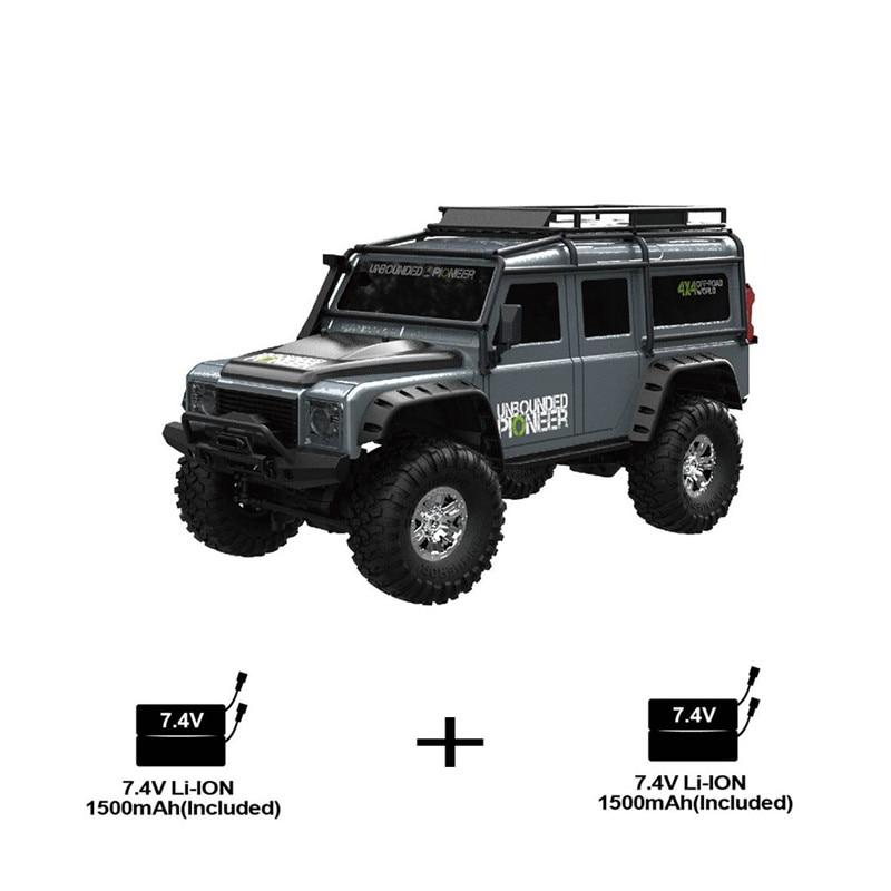 ZP1001 1/10 2,4G 4WD Rc coche 2 juguetes de batería Control proporcional vehículo Retro con luz LED RTR modelo de Control remoto chico Juguetes