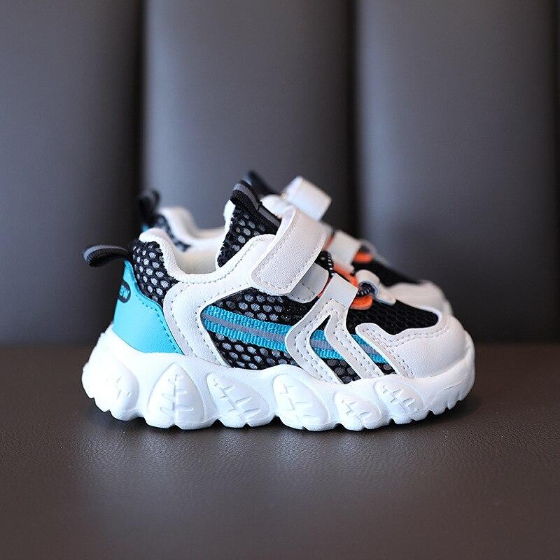 أحذية ربيعية للأطفال ، أحذية ناعمة غير قابلة للانزلاق ، أحذية رياضية شبكية مسامية للأطفال الصغار ، مجموعة جديدة