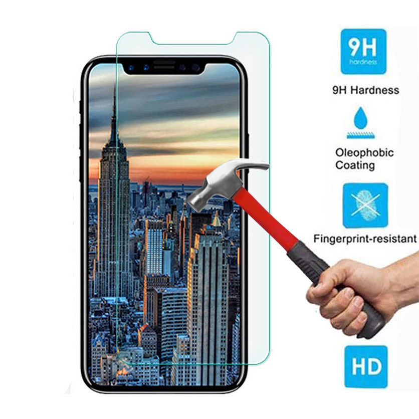 Scratch Proof Glass for IPhone X XS MAX XR Transparent Tempered Screen Protector Protective Front Fi