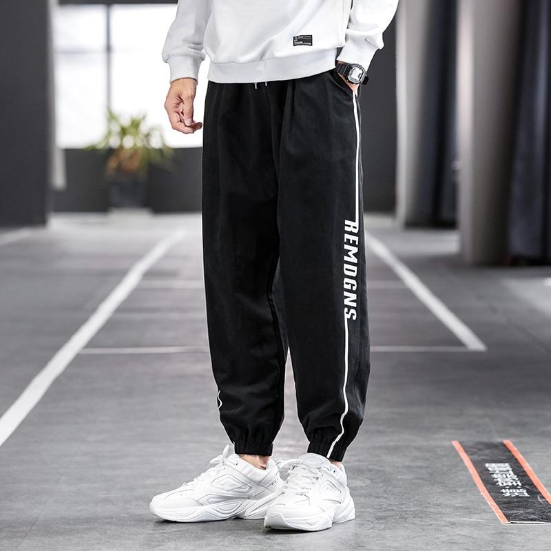 Mens casual pants autumn and winter Korean fashion plush thickened Leggings sports